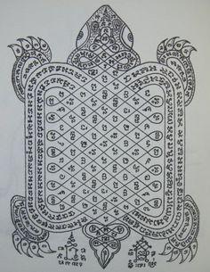 Tiger Sak Yant Tattoo Meanings | Turtle Yantra Sak Yant Thai Temple Tattoos