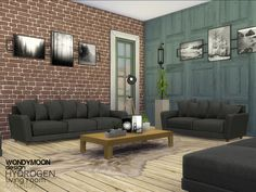 Hydrogen Living by wondymoon at TSR via Sims 4 Updates