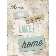 There's No Place Like Home - inspirational artwork print by Penny Lane artist Marla Rae