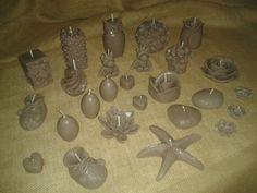 Velas en gris perla con aroma a café.   Más información y pedidos. belyndagm@hotmail.com