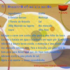 Escondidinho de Batata Baroa Link: https://youtu.be/6eQ7g8df4ik