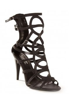 Gladiator Sandals Heels Black | Tsaa Heel