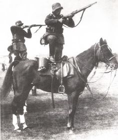 WW1 cavalry--I'm not sure how effective shooting from the back of a horse would be.