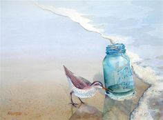 Ball Jar and Sandpiper