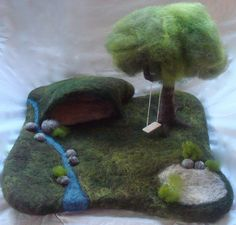 inspiring needle felted playscape