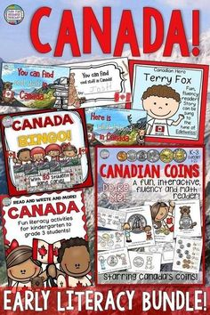 Fun ideas for young students to learn about and Celebrate CANADA! - That Fun Reading Teacher Educational Activities For Kids, Fun Learning, Teaching Activities, Teaching Resources, Teaching Ideas, Classroom Resources, Primary Teaching, Teaching Tools, Canada For Kids