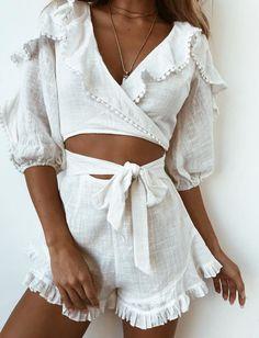 Angela Playsuit - White
