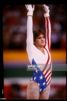 Mary Lou Retton of the United States in action on the balance beam during the Summer Olympics in Los Angeles, California. Mandatory Credit: Allsport /Allsport