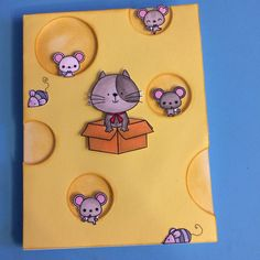 Cat, mice and cheese card