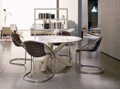 Sedia moderna con braccioli a bascula in quercia fÉlix by