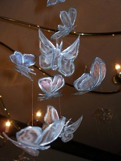 Instructables for butterflies from soda bottles