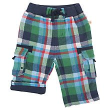 Buy Frugi Baby Check Snug Trousers, Green/Multi Online at johnlewis.com