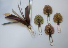 Autumn/Fall Tree Ribbon Paperclip Set - Planner/Journal/Bookmark - Erin Condren, Kikki K, Happy Planner