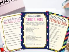 INSTANT download bachelorette game bundle! I LOVE these Kate Spade-inspirted bachelorette games. Purchase and download instantly!
