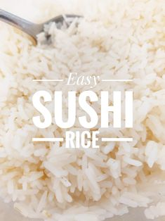 Great recipe for Sushi Rice🍣. Easy sushi rice that taste's great by it's self or made into sushi rolls! Best Sushi Rolls, Best Sushi Rice, Sushi Rice Recipes, Easy Rice Recipes, Asian Recipes, Rice For Sushi, Diy Sushi, Homemade Sushi, Fried Sushi