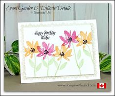 Avant Garden and Delicate Details - Stampin Up Card Ideas from Canadian Stampin Up Demonstrator Sandi MacIver