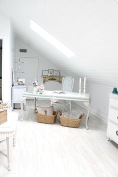 The Attic Turned Home Office Makeover | The Office Stylist