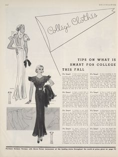 Butterick 5296 and 5275 in Delineator magazine, September 1933