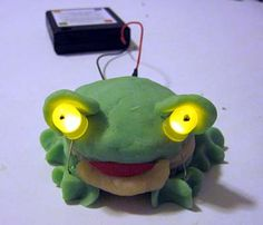 "Take your squishy circuits 3D! In the ""Electric Play Dough Project 3: Light Up Your Sculptures!"" #science project, students make and use conductive and insulating dough to create a three-dimensional sculpture that lights up. [Source: Science Buddies, http://www.sciencebuddies.org/science-fair-projects/project_ideas/Elec_p075.shtml?from=Pinterest] #STEM #scienceproject"