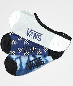 64b286d71c Vans 3 Pack Heart Checker Canoodle No Show Socks