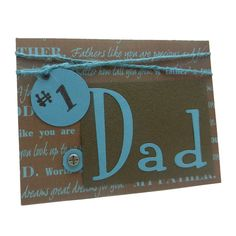 Fathers Day Card  Number 1 Dad  Handmade by EmbellishbyJackie, $6.00