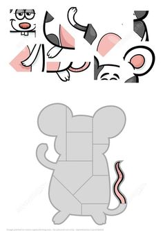 Jigsaw Puzzle with Funny Mouse Puzzle games Jigsaw Puzzles For Kids, Printable Puzzles For Kids, Puzzle Games For Kids, Maths Puzzles, Math For Kids, Worksheets For Kids, Preschool Learning Activities, Preschool Activities, Kids Learning