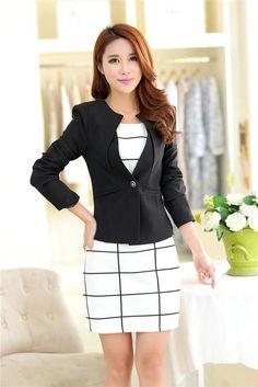 RealShe Women Jacket Long Sleeve Suit Blazer Women's Casual Blazer Feminine Jackets