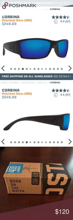 Costa Del Mar men's sunglasses Corbina blackout polarized glass shades for men. Attached a photo from the website because they are literally new in box! Retails for $200, selling for $120. Never been worn. Comes with case. costa del mar Accessories Sunglasses