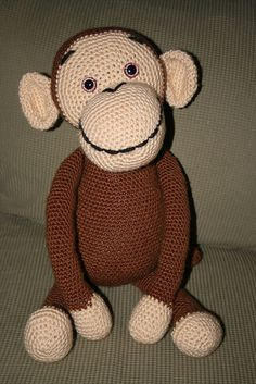 Crocheted Monkey - Free pattern from ravelry.com