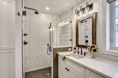 80 Awesome Farmhouse Master Bathroom Decor Ideas And Remodel To Inspire Your Bathroom - Page 19 of 81 - Abidah Decor Luxury Shower, Home Renovation, Master Bathroom, Modern Bathroom, Modern Decor, Home Decor, Decor Ideas, Absolutely Stunning, Awesome