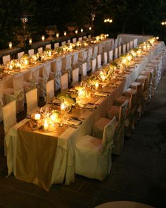 Gorgeous candlelight tablescape