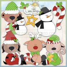 Santa's Friends 1 - Non-Exclusive Trina Clark Clip Art