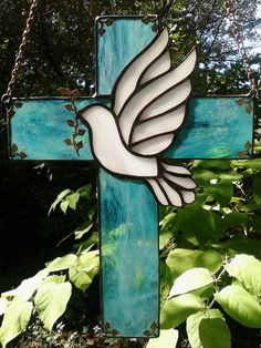 Stained Glass cross I made as a donation to a Church Fundraiser for families in need. #StainedGlassChurch