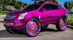 Cadillac SRX on Forgiato Wheels // It has a look that appears effortless but doesn't ignore the effort. This Cadillac SRX seen here on Magro all the . Cadillac Srx, Pink Cadillac, Pimped Out Cars, Donk Cars, Luxury Sports Cars, Fancy Cars, Crazy Cars, Nice Cars, Expensive Cars
