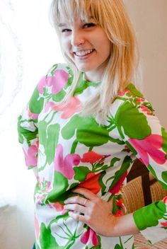 #vintage 60s #Mod Floral Blouse from Goodwill!