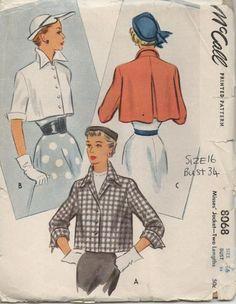 Vintage 1965 Sewing Pattern Dress 2 Versions McCalls 8068 Size 16 Bust Uncut for sale online Vintage Dress Patterns, Coat Patterns, Clothing Patterns, Vintage Dresses, Vintage Outfits, Vintage Clothing, Vintage Coat, Mode Vintage, Vintage Jacket