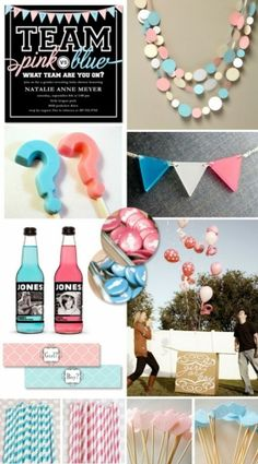 "Gender Reveal Party or Neutral Baby Shower Ideas {""Pink vs. Blue"" Picks} Love these ideas! Baby Gender Reveal Party, Gender Party, Baby Party, Baby Shower Parties, Shower Party, Bebe Shower, Baby Time, Reveal Parties, Vs Pink"