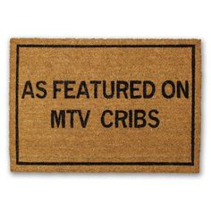 Cricut Discover A Featured on MTV Cribs 30 in. x 18 in. Non-Slip Outdoor Door Mat College Girl Apartment, Friends Apartment, College House, College Apartments, Apartment Door, College Apartment Decorations, Girl Apartment Decor, Single Girl Apartment, New Apartment Gift