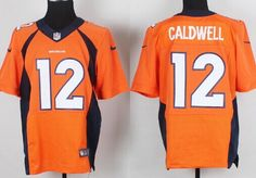 Nike Denver Broncos #12 Andre Caldwell 2013 Orange Elite Jersey