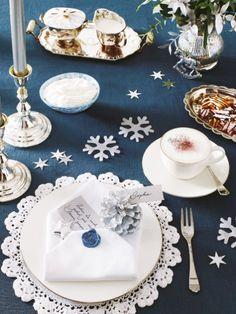 Festliche Tischdekoration: Ganz in edlem Weiß