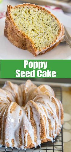 Poppy Seed Cake - a quick and easy cake recipe that comes together in minutes. Moist, delicious, and great for dessert, or with a cup of coffee. Easy Cake Recipes, Best Dessert Recipes, Cupcake Recipes, Easy Desserts, Baking Recipes, Cupcake Cakes, Cupcakes, Yummy Recipes, Delicious Desserts