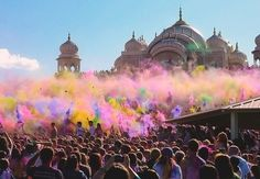 Holi- Indian Festival of Colors. Must go to this one day! #ridecolorfully #katespadeny #vespa