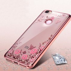 Luxury Plating Soft Tpu flower Cover Case for Xiaomi Mi5 5C for Xiaomi Redmi Mi6 Redmi Note 3 Redmi 4 Pro 4A 4X 3S Phone Case