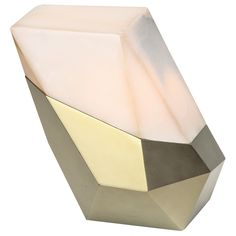 'Menhir' Illuminated Onyx Side Table by Achille Salvagni