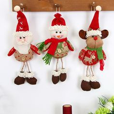 Christmas Hanging Doll Decoration Tree Hang Ornaments Gift Santa Claus Snowman Reindeer Toy Doll Xmas Hang Drop Decorations photo ideas from Amazing Home Decor Photo Ideas Hanging Christmas Tree, Hanging Ornaments, Christmas Tree Ornaments, Christmas Crafts, All Things Christmas, Christmas Time, Xmas Table Decorations, Doll Crafts, Reindeer