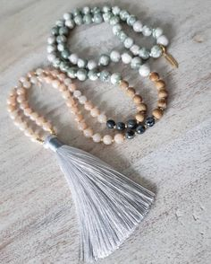 This item is unavailable Jade Necklace, Tassel Necklace, Necklaces, Bracelets, Gold Glass, Jasper, Seed Beads, My Etsy Shop, Check