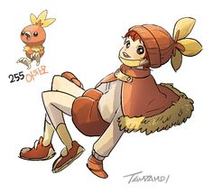 Pokemon Gijinka 255. Torchic 256. Combusken 257. Blaziken