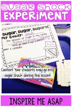 October is the perfect month to incorporate candy into your lessons. Read more about how we had our own little experiment with sugar and what we learned. Nerds Candy, Nutrition Shakes, Nutrition Guide, Teacher Binder, Teacher Stuff, Learning Objectives, Healthy Eating For Kids, Favorite Candy, Student Reading