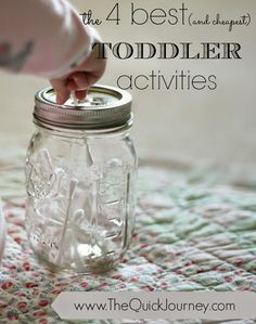 Toddler Activities to keep your kiddo busy while you work or homeschool.  cheap and easy ideas!