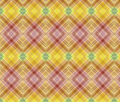 DREAM OF AN OCEAN YELLOW SUNNY AND GRASS SEA GARDEN  DIAGONAL PLAID LOZENGE fabric by paysmage on Spoonflower - custom fabric